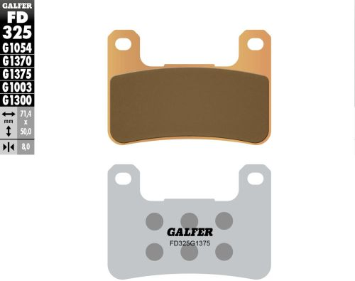 NEW GALFER HH BRAKE PADS SINTERED FD076G1397