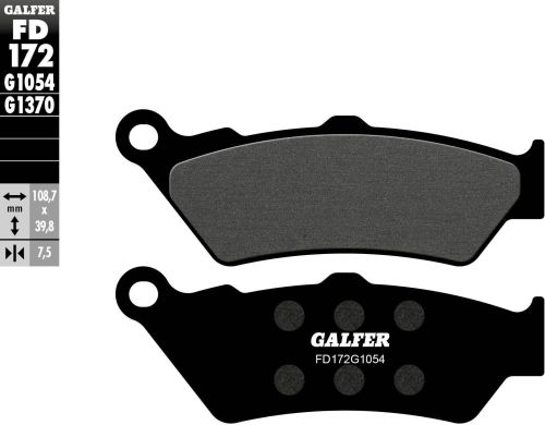 GALFER BRAKE PADS SEMI METALLIC FD138G1054 /_  FD138G1054