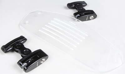 Clear PUIG 6375W Clip-On Visor 315mm