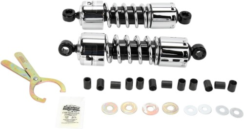 "Progressive Suspension 412 Series Standard Rear Shocks 12.5/"" Chrome  412-4209C"