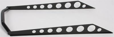 Skinz Protective Gear Rear 163 Aluminum Bumper Black SDRB275-BK