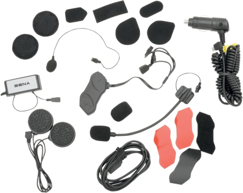 sena smh10rd 01 motorcycle helmet bluetooth low profile headset intercom dual pk ebay. Black Bedroom Furniture Sets. Home Design Ideas