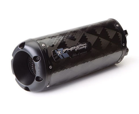 005-1120407-B Two Brothers Racing Black Series M-2 Carbon Fiber Canister Slip-On Exhaust System