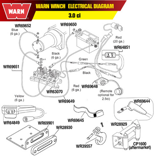 warn winch switch diagram warn winch parts diagram warn 64851 37-2090 w64851 61-64851 w-ac008 wr64851 | ebay