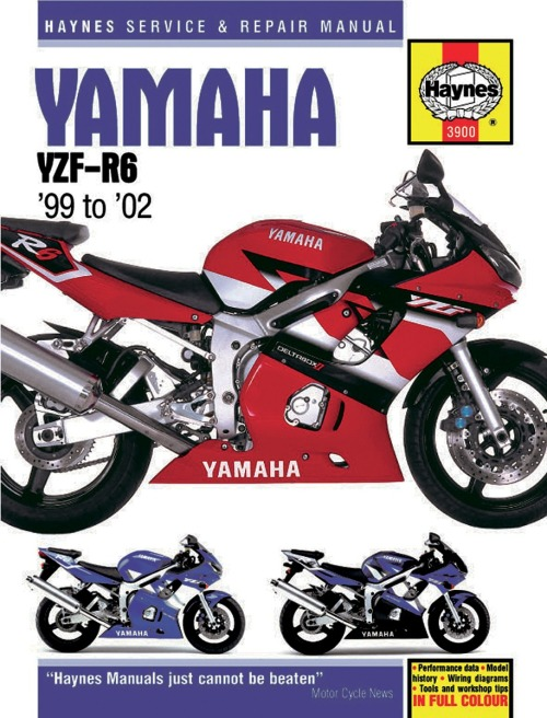 Haynes Yamaha YZF-R6 Repair Manual M3900 on