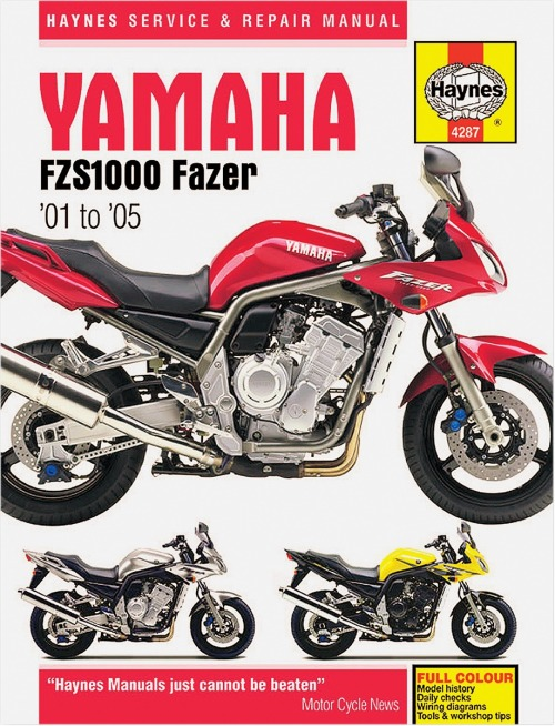 yamaha trx 850 wiring diagram haynes yamaha fzs1000 fz1 repair manual m4287  haynes yamaha fzs1000 fz1 repair manual
